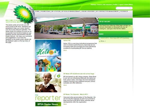 Websites | BP South African Dealer Portal